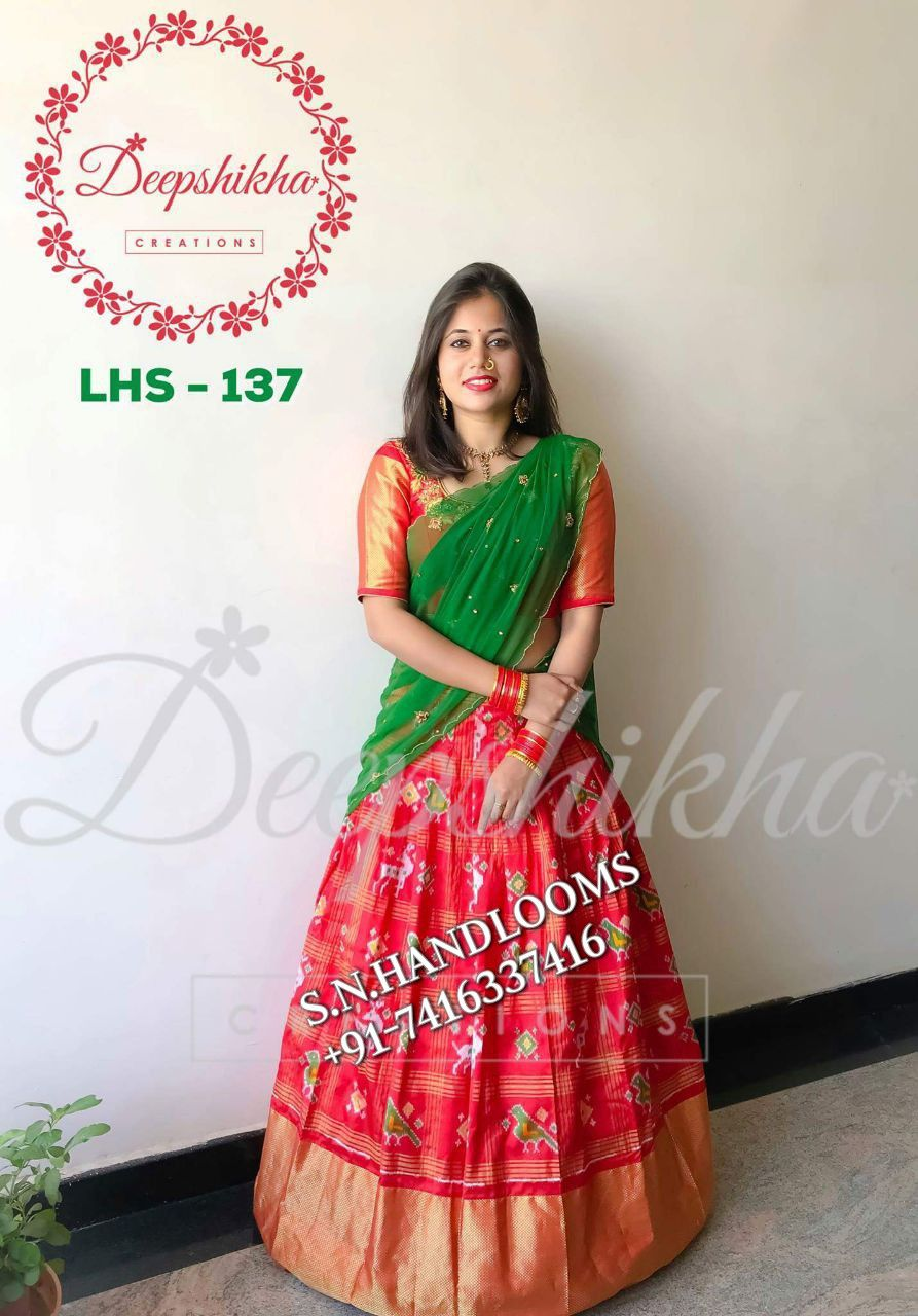 49c1e8a1f05fb New arrival of ikkat lehengas Availabl in Stock For more details call or  Whatsapp at +91-7416337416