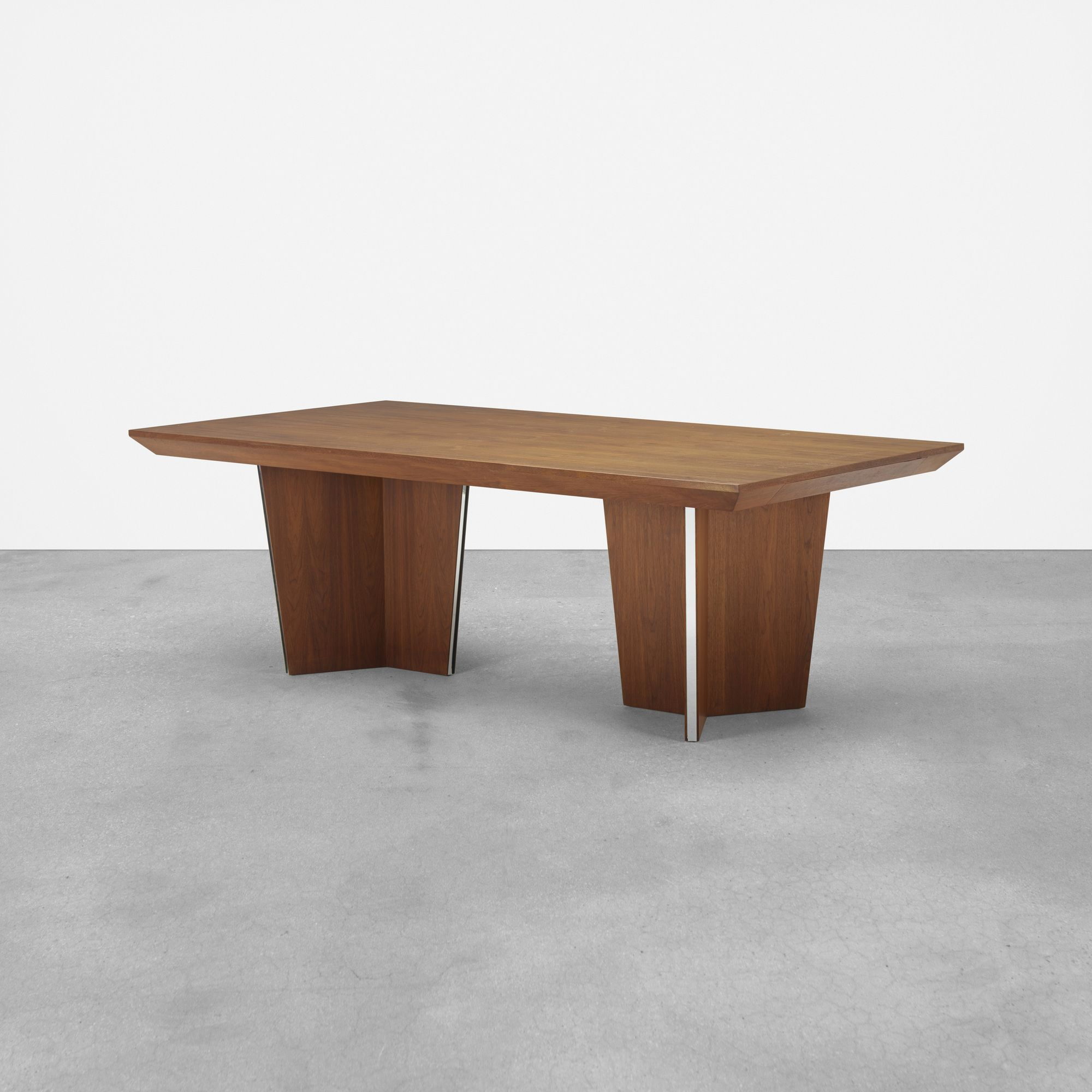 Lot 428 Vladimir Kagan Dining Table C 1958 Walnut Stainless