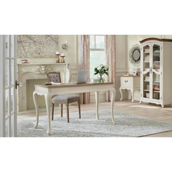 Home Decorators Collection 54 in. Rectangular Ash Brown 1 Drawer Writing Desk with Keyboard Tray MD-PV-006 - The Home Depot