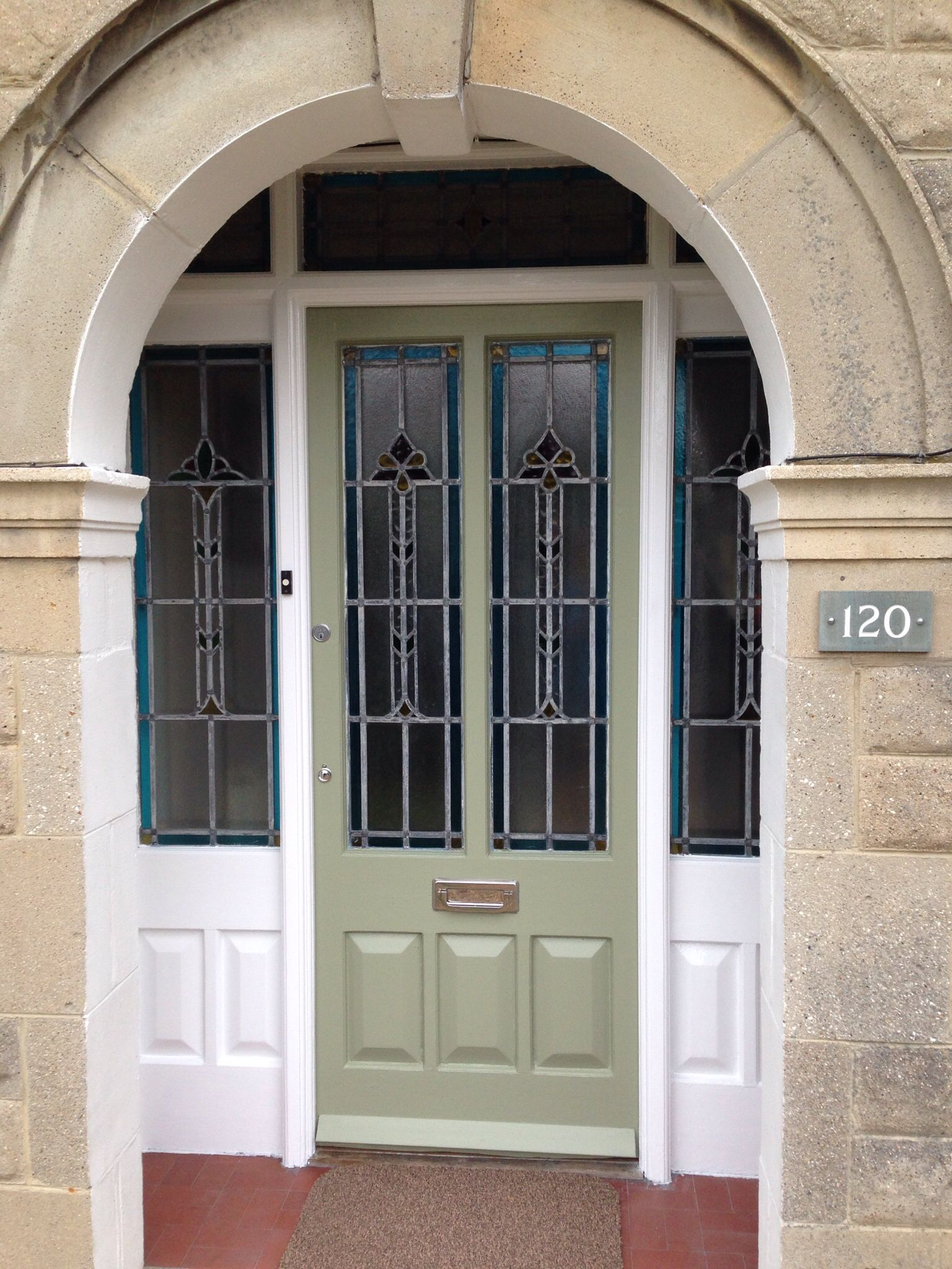 1930 front door farrow and ball lichen no 19 farrow - Farrow and ball exterior door paint ...