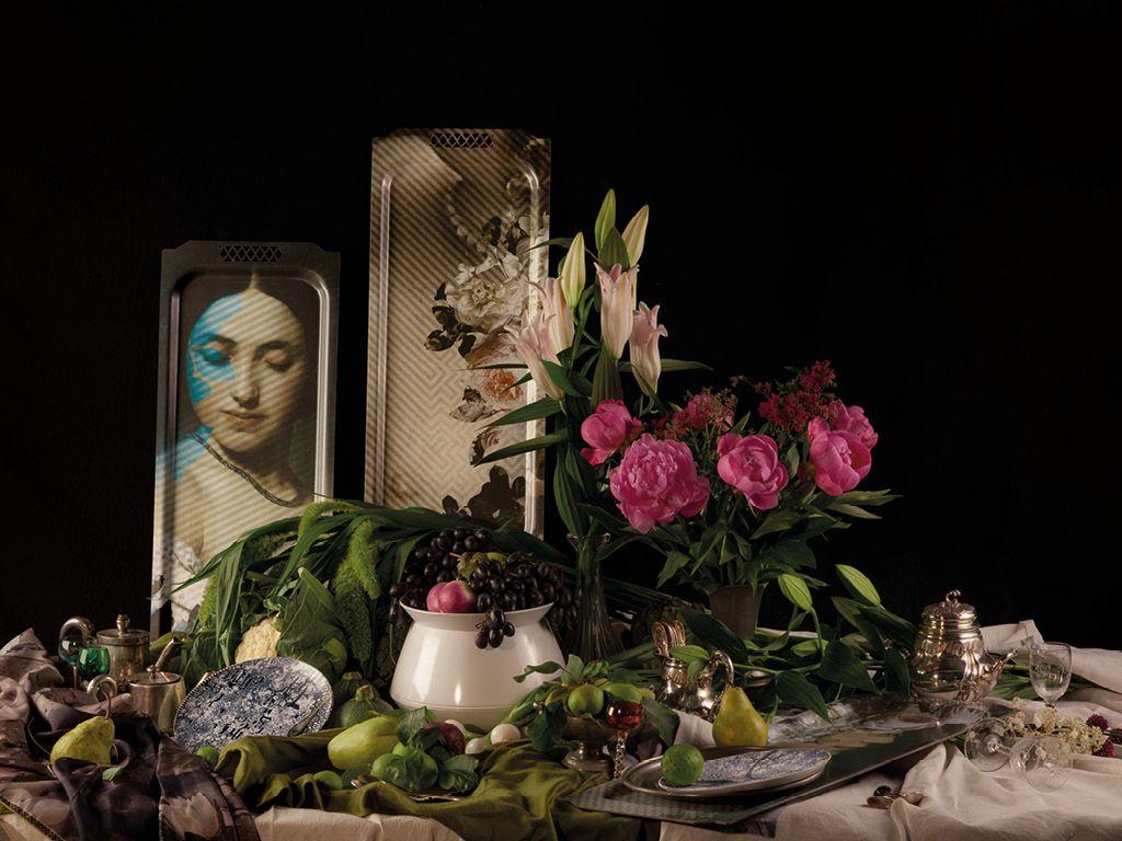 Dahlia & Maisie #ibride #tray #artwork #design #home #decoration #wall http://www.ibride.fr/galerie-de-portraits/