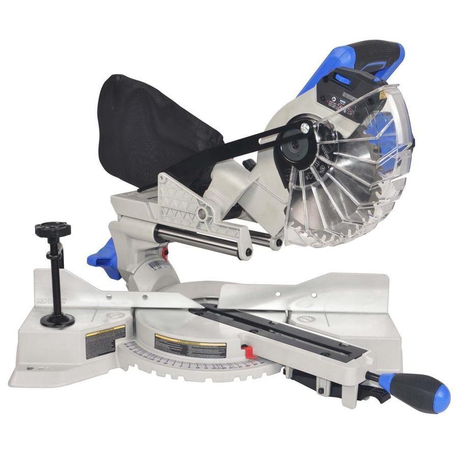 Kobalt Compact Sliding 7 1 4 In In 10 Amp Single Bevel Sliding Laser Compound Miter Saw Craftsman Table Saw Miter Saw Diy Table Saw