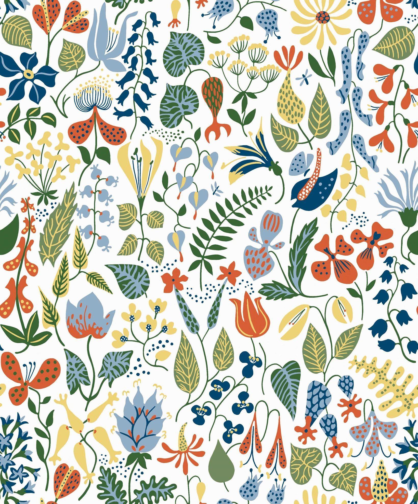 Scandinavian Designers 2743 Scandinavian Wallpaper Floral Wallpaper Wall Wallpaper
