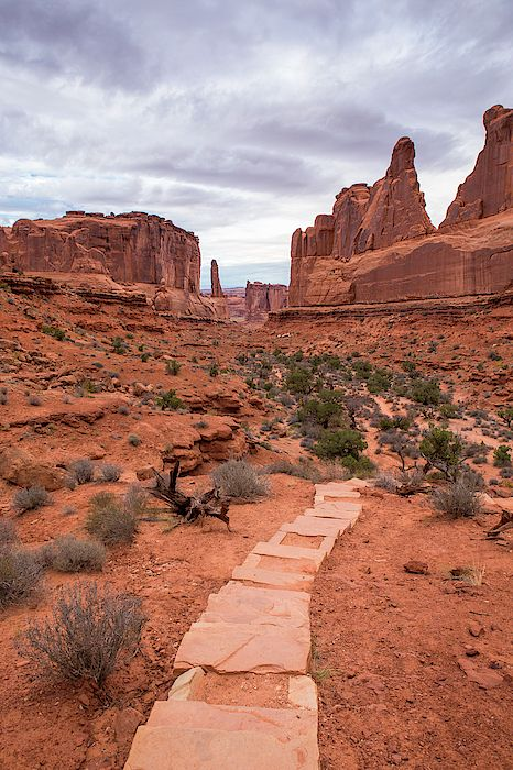 Photo of Park Avenue Trail in Arches National Park by Stephanie McDow…