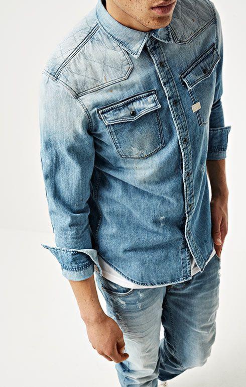 Denim Journeys G Star Raw Denim Fashion Denim Shirt Men Denim Shirt Outfit
