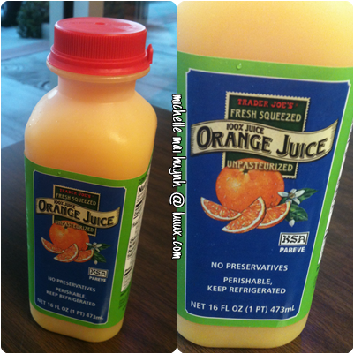 Trader Joes Orange Juice The Best Oj Ever Shot Recipes