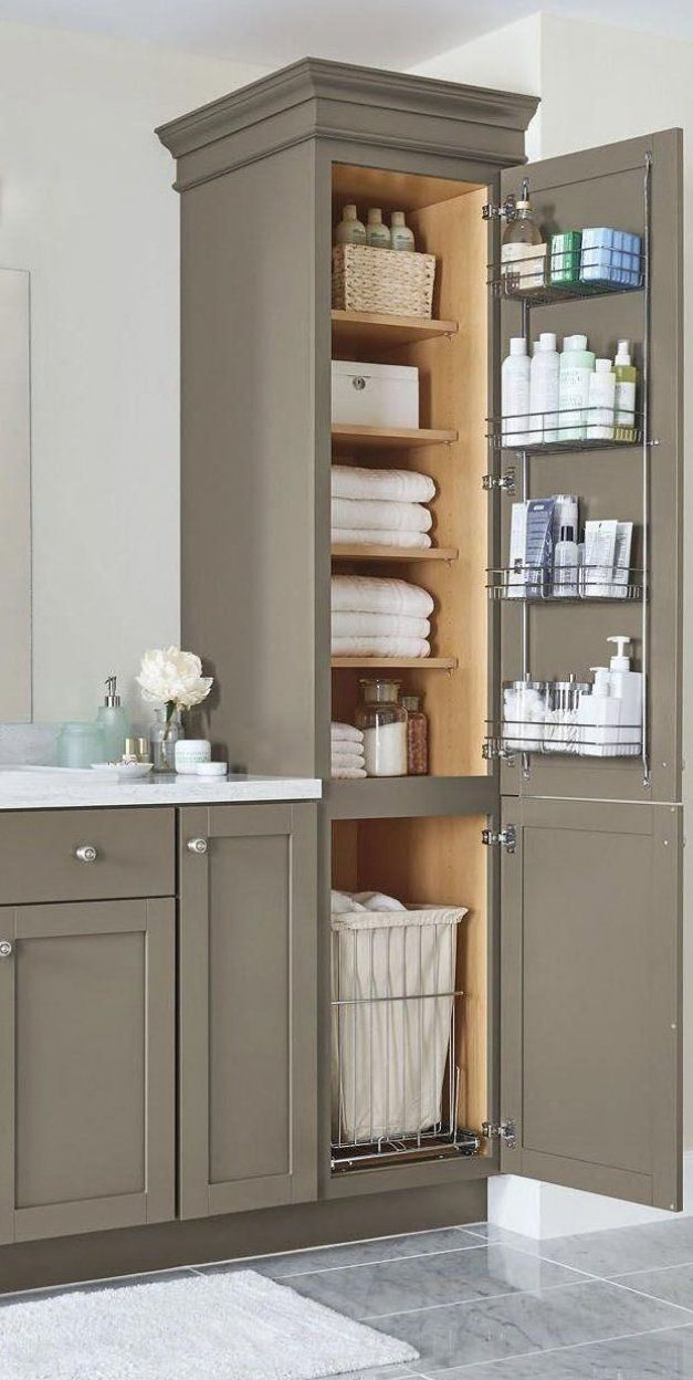 An organized bathroom vanity is the key to a less stressful morning routine  Check out our storage and organization ideas   BathroomVanity #diydecor #officedecor #plantdecor
