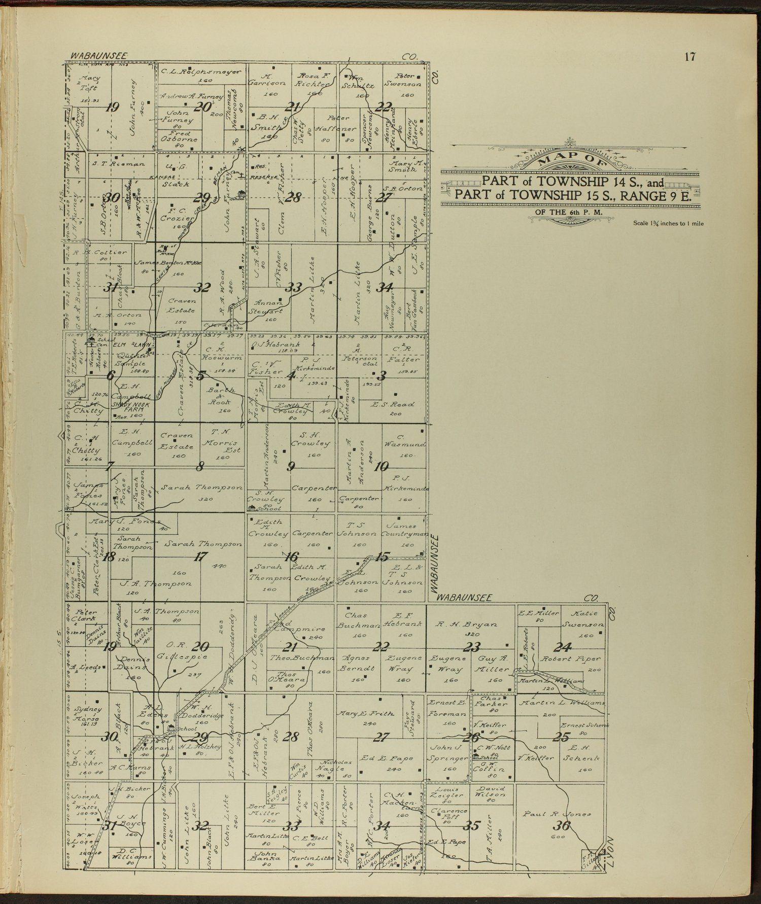 Kansas morris county dwight - Standard Atlas Of Morris County Kansas 17