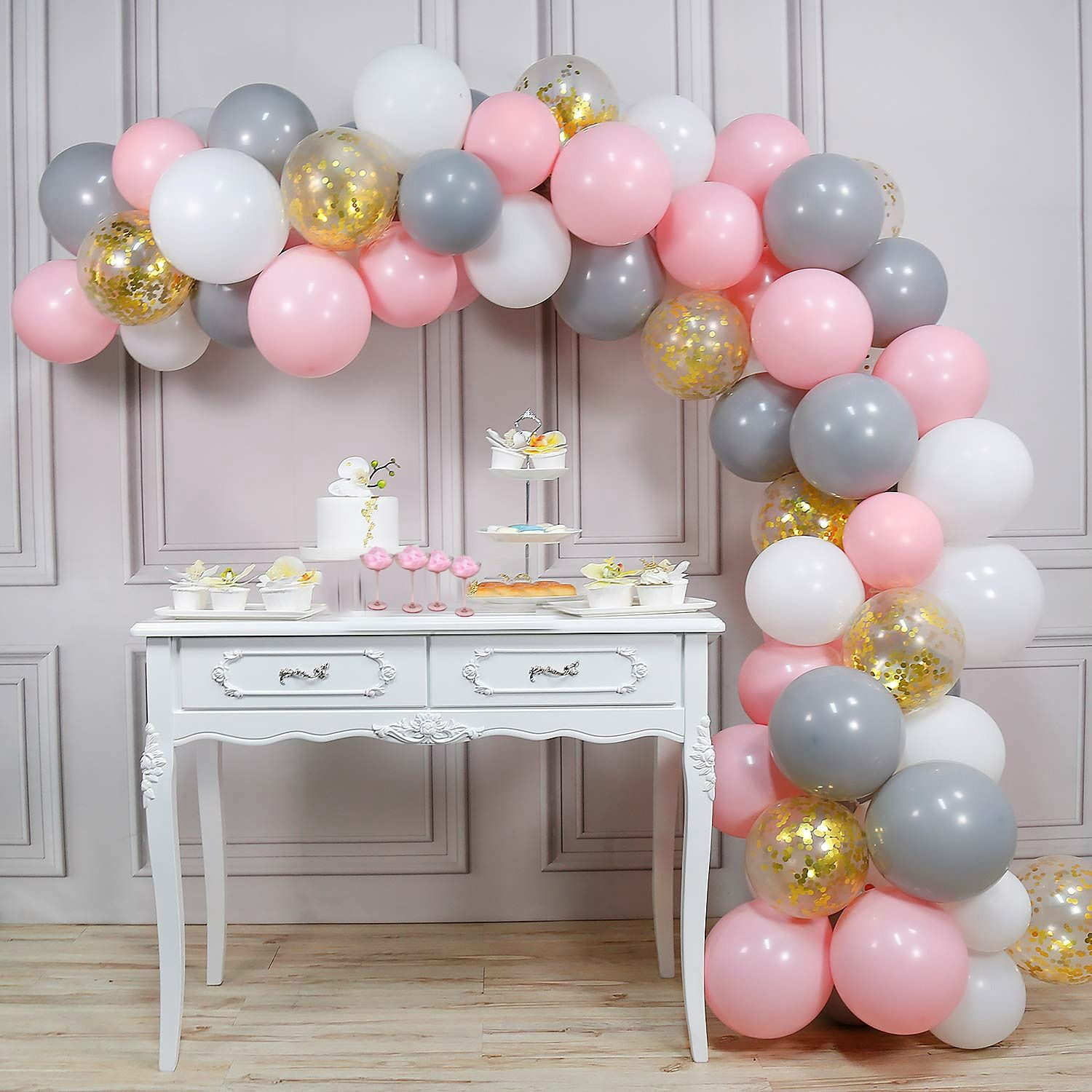 40pcs Rose Gold Confetti Balloons Birthday Marriage Party Decoration GIFT AU