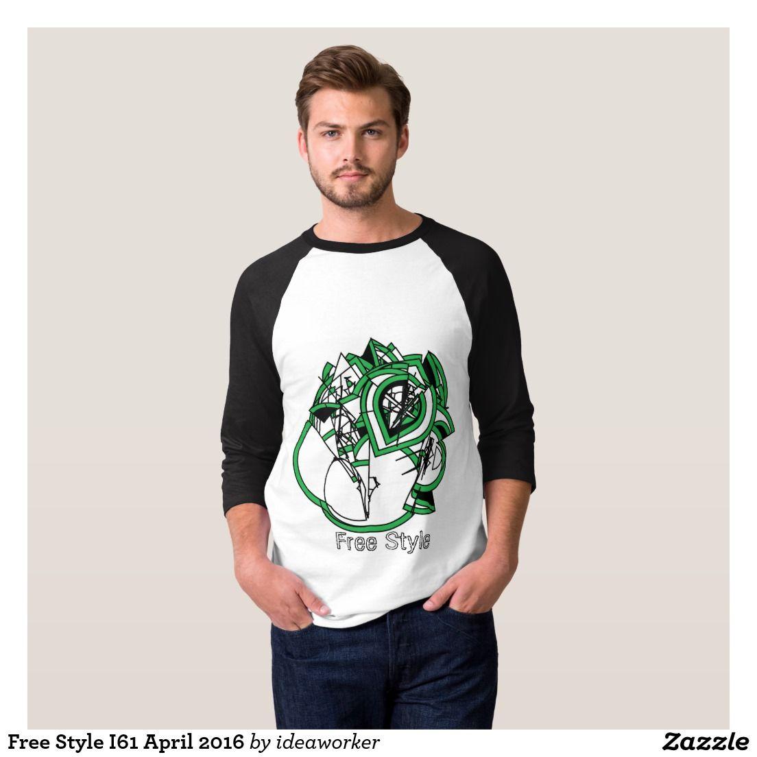 Free Style I61 Men's Basic 3/4 Sleeve Raglan T-Shirt (Color: White/Black)   #design #fashion #freestyle #men #raglan #tshirt