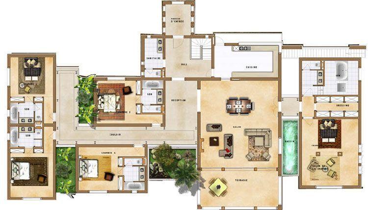 Plan De Villa Villa Maroc Maison Maroc Plan Maison Architecte