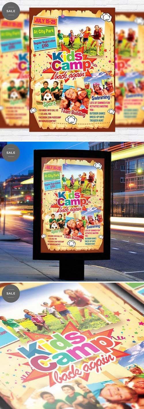 Business Flyer Psd Template  Kids Summer Camp  Graphic