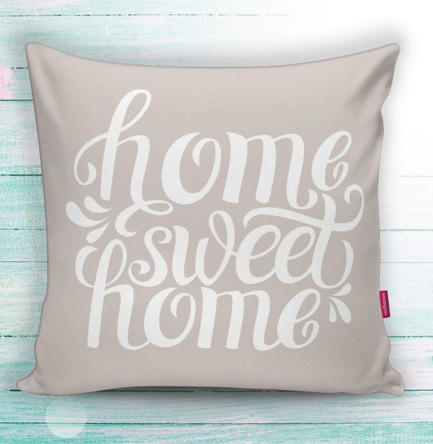 Letters & Words Throw Pillow Covers 17x17 inches Home