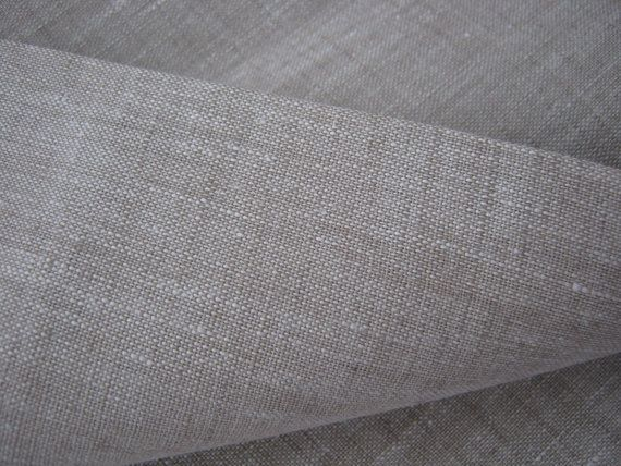 Wide Linen Fabric By The Yard 100 Pure Flax Width Medium Etsy Linen Fabric Pure Products White Linen Bedding