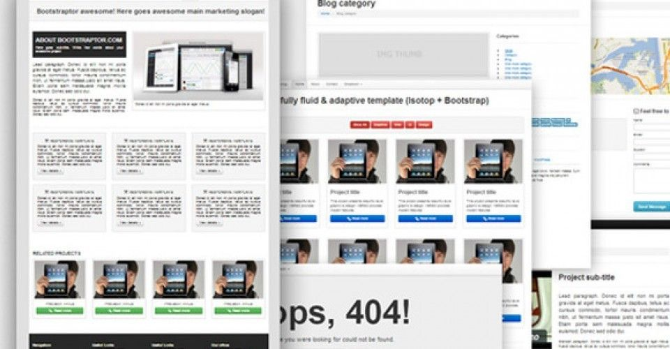Bootstrap Templates Free Kit Download Bootstraptor Com Bootstrap Template Ecommerce Template Website Template Design
