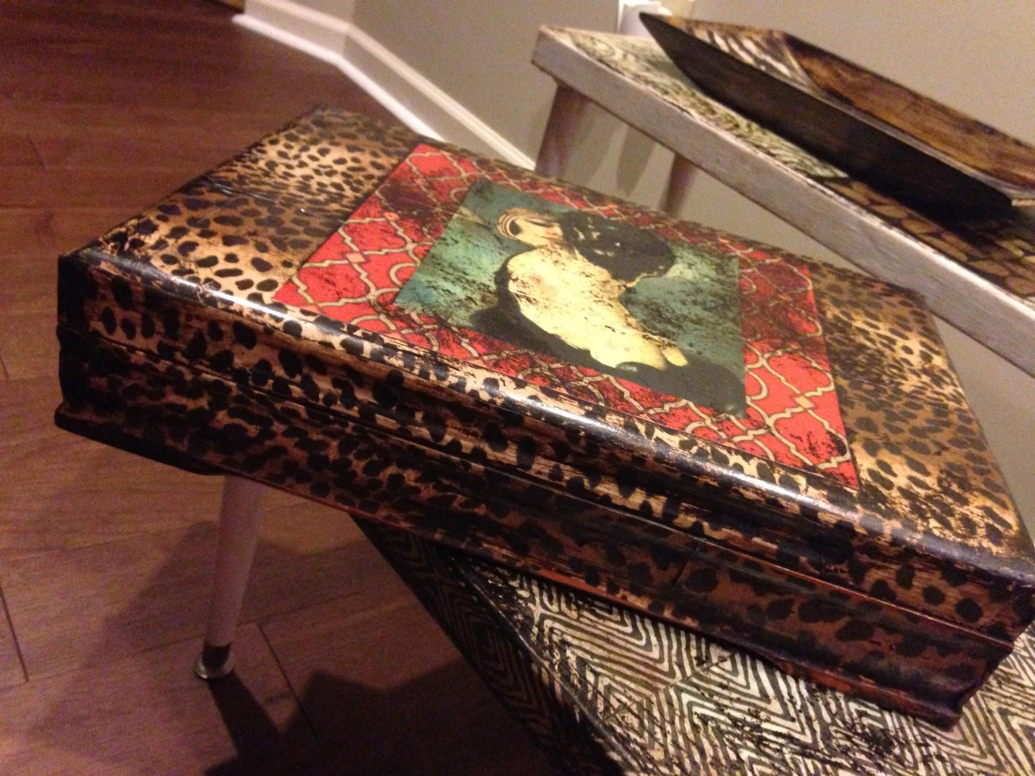 romantic collage jewelry box Decoupage Collage and Patinas