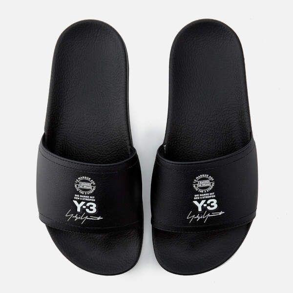 6c98c9304844c4 Y-3 Y3 Adilette Slides - Black