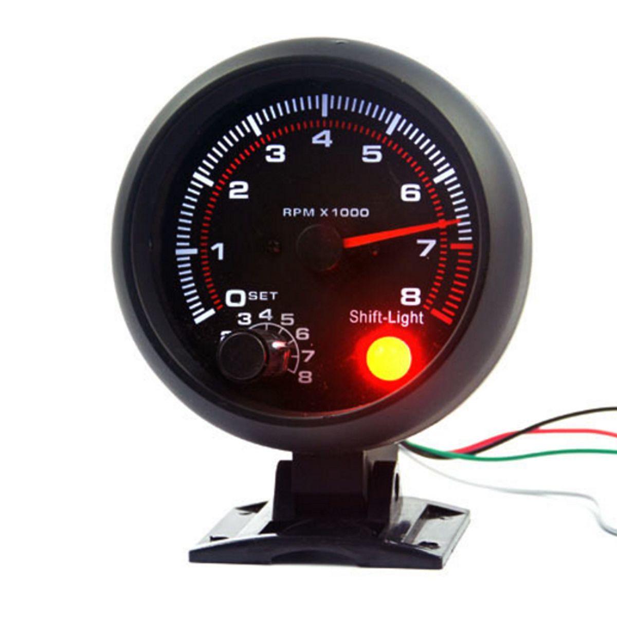 Latest 3 75 Inch 95mm Dc12v 0 8000rpm Car Tachometer Gauge Autoparts Automobiles Motorcycles Othertools Car Tachometer Tachometer Gauges