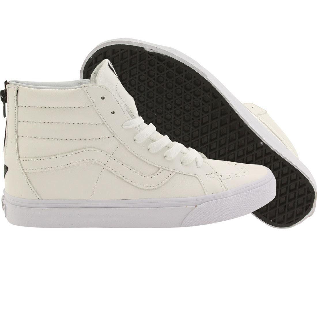 2034ac962e0 Vans Men Sk8-Hi Reissue - Premium Leather (white   black)