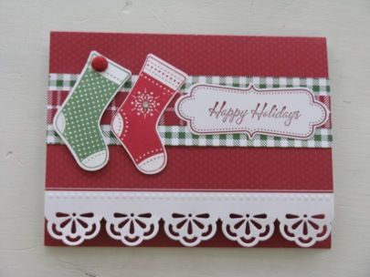 stampinup card with christmas tree stamp   for a stampin up demonstrator stampin up stamping videos stamp ...