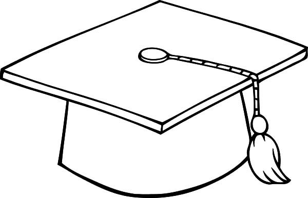 Graduation Cap Coloring Pages Color Luna Graduation