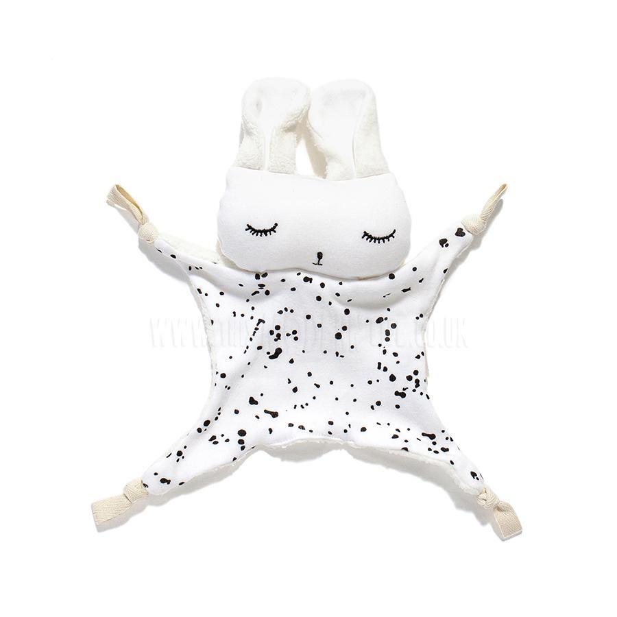 Wee Gallery Soft Toy . Cuddle Bunny Splatter Cuddling