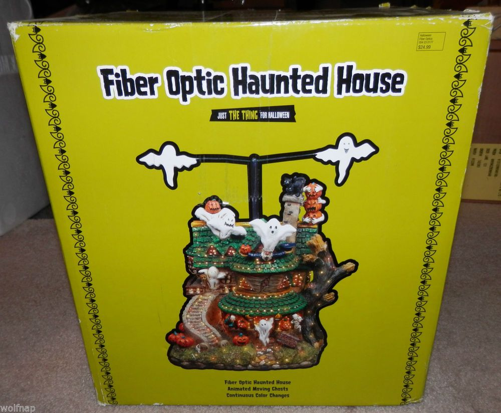 Halloween fiber optic haunted house brand new holidays for Fiber optic halloween decorations home