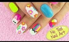 Sara Beauty Corner No Tool Nail Art Nail Art Designs Diy Diy Nail Designs Simple Nail Art Designs