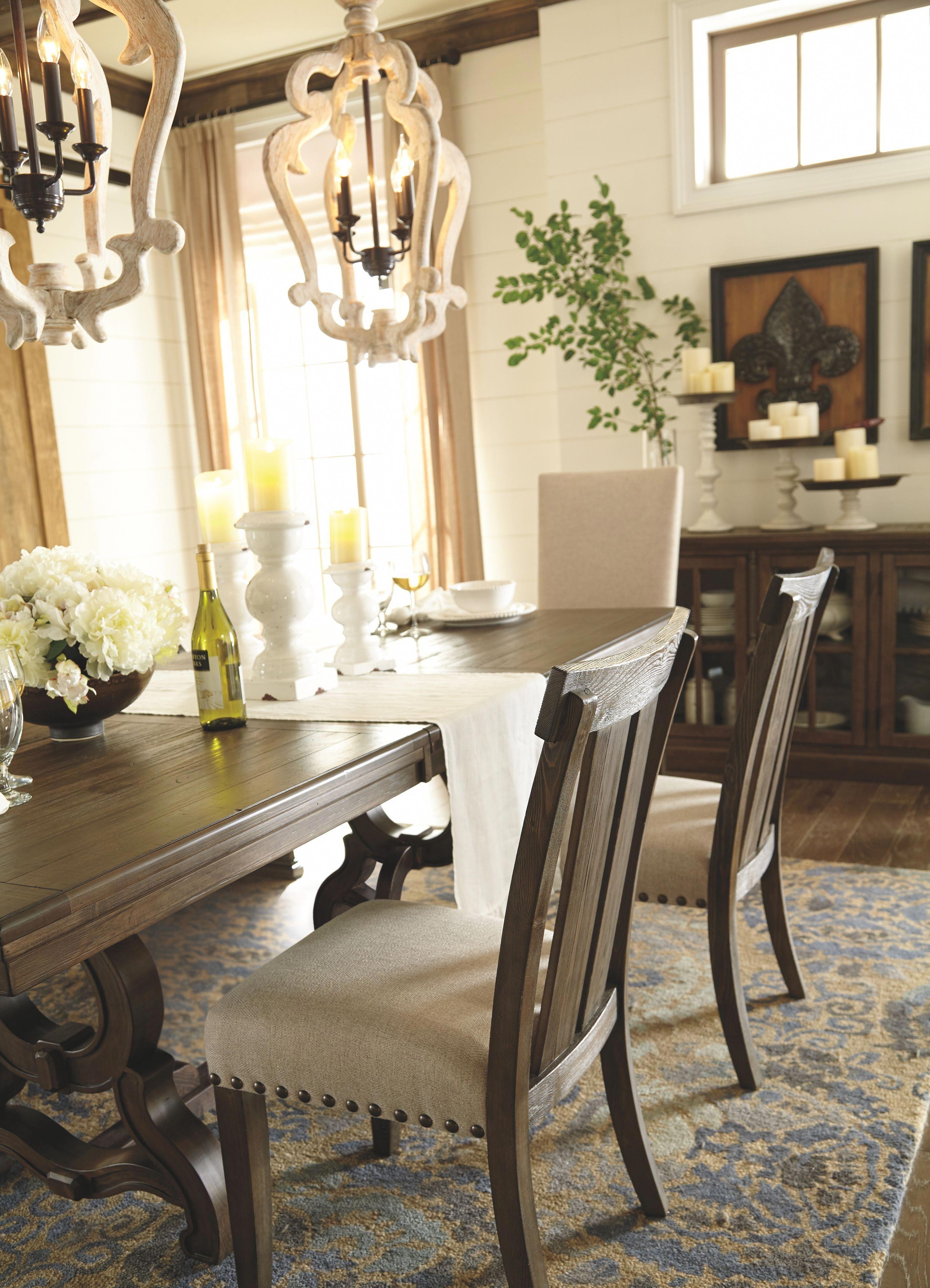 Wendota Dining Room Chair Set Of 2 Grayish Brown