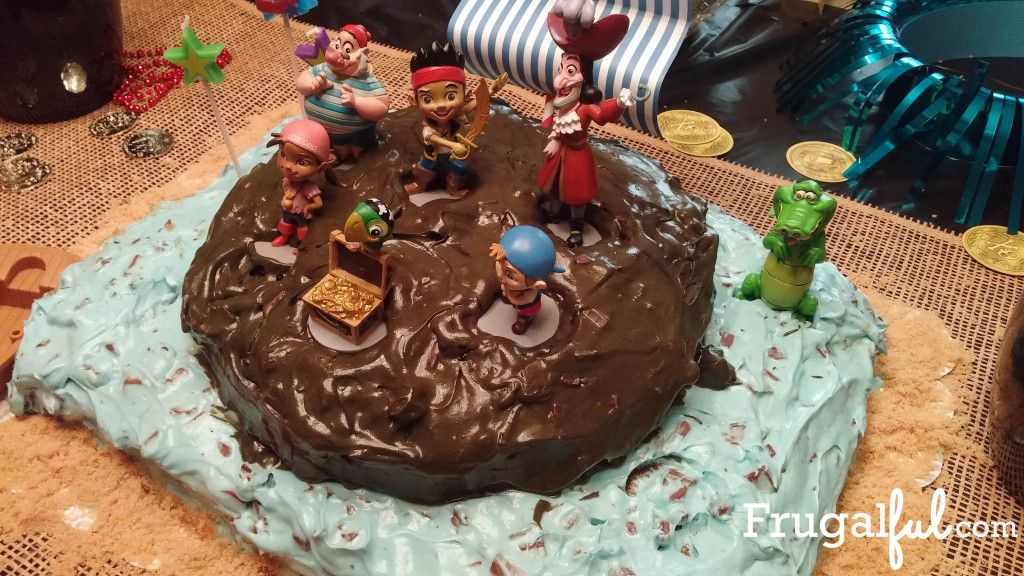 Pirate Party- Captain Hook Birthday Cake