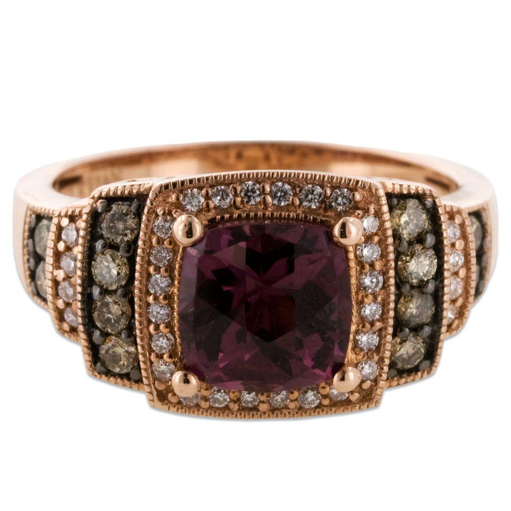 Chocolate Diamond Jewelry For Men Raspberry Rhodolite Ring With 39 Carat And Vanilla