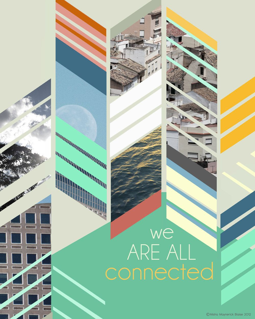 Inspiration Quote, We Are All Connected | Typography art ...