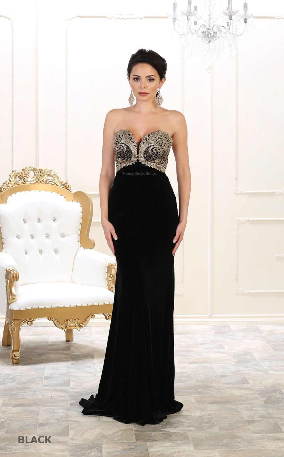 Awesome red carpet formal prom strapless gala evening gowns military