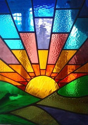 Stained Glass Sunset Or Possibly Sunrise Either Way It S