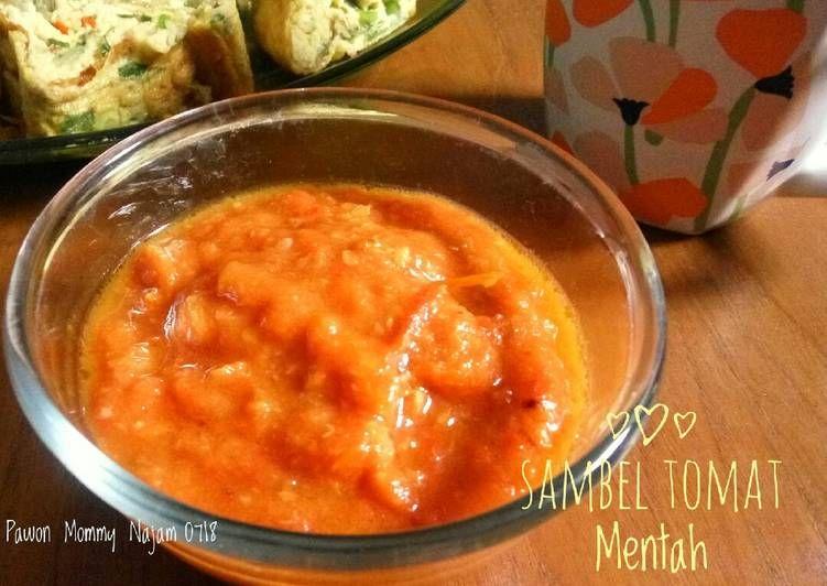 Resep Sambel Tomat Mentah Oleh Pawon Mommy Najam Resep Resep Resep Masakan Masakan