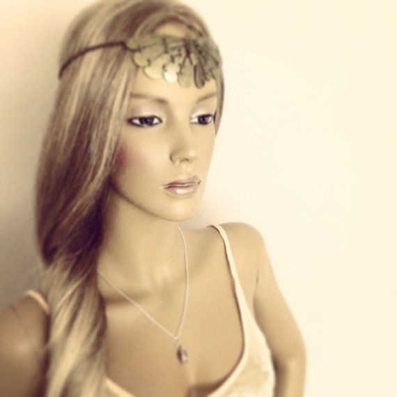Antique Butterfly Chain Hairband Headpiece 1920's by Flashfloozy
