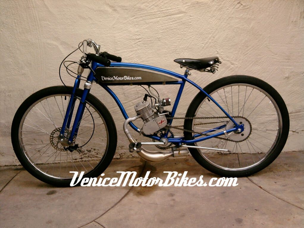 1951 Schwinn Straight Bar Motorized Bicycle Piston Bike