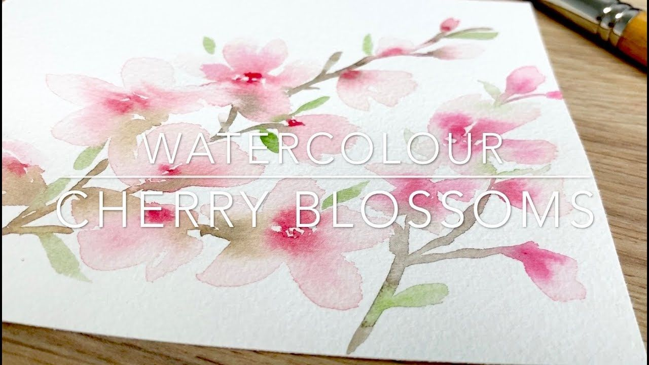 Watercolour Cherry Blossoms By Emma Lefebvre Youtube 8 35min Easy