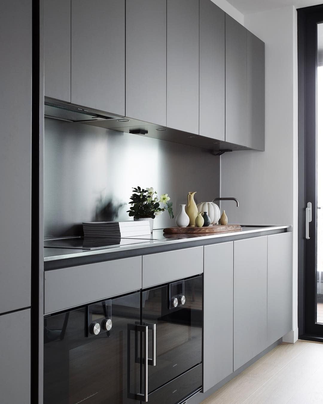 grey kitchen | Kichern | Pinterest | Cocinas, Electrodomésticos ...