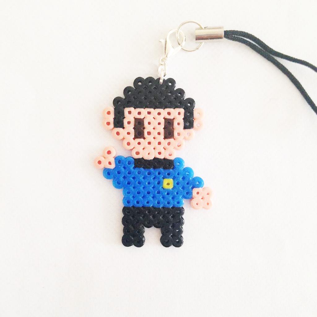 Spock - Star Trek Next Generation phonestrap perler beads by Pixel ...