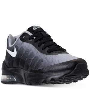 630c832a5e9ed0 Nike Boys  Air Max Invigor Print Running Sneakers from Finish Line - Black  6.5