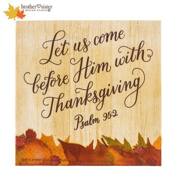 Psalm 95:2 Luncheon Napkins