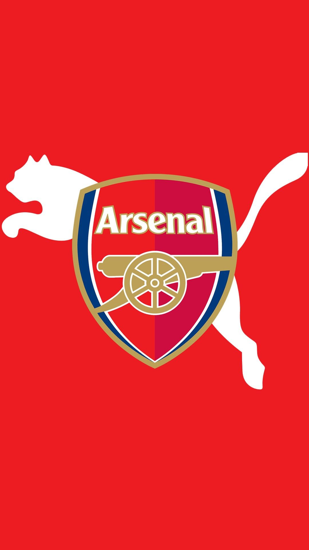 Red Background Arsenal Logo Wallpaper For Mobile So True