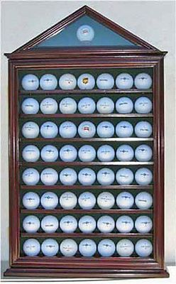 Ball Markers 18928: 57 Golf Ball Display Case Wall Shadow Box ...