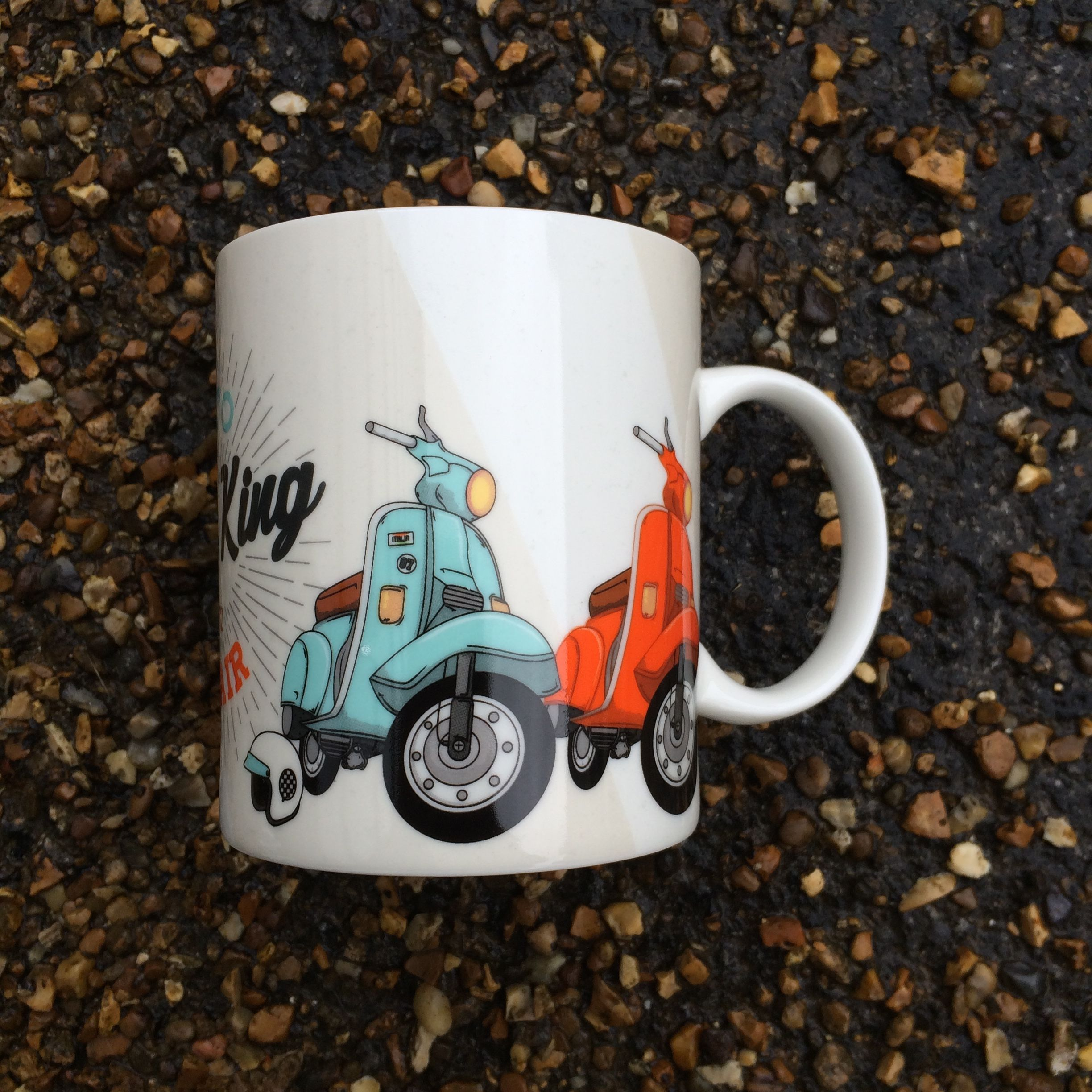 Jack Evans 'Speed King' Scooter New Bone China Mug #mug #giftsforhim #forhim #giftideas