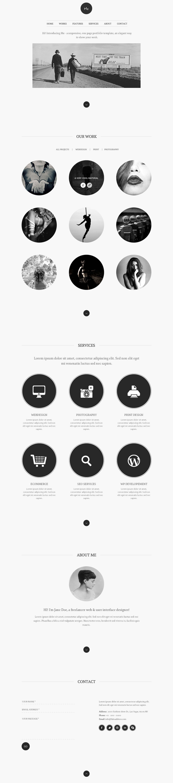 15 examples of black and white web design web design pinterest screendesign webseite und. Black Bedroom Furniture Sets. Home Design Ideas