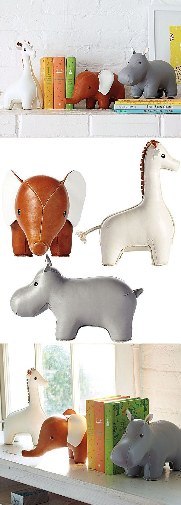 Animal Bookends // SO cUte!