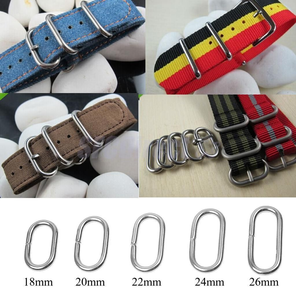 10x Watch Strap Band Holder Loop Hoop Ring For Diy Watch Strap