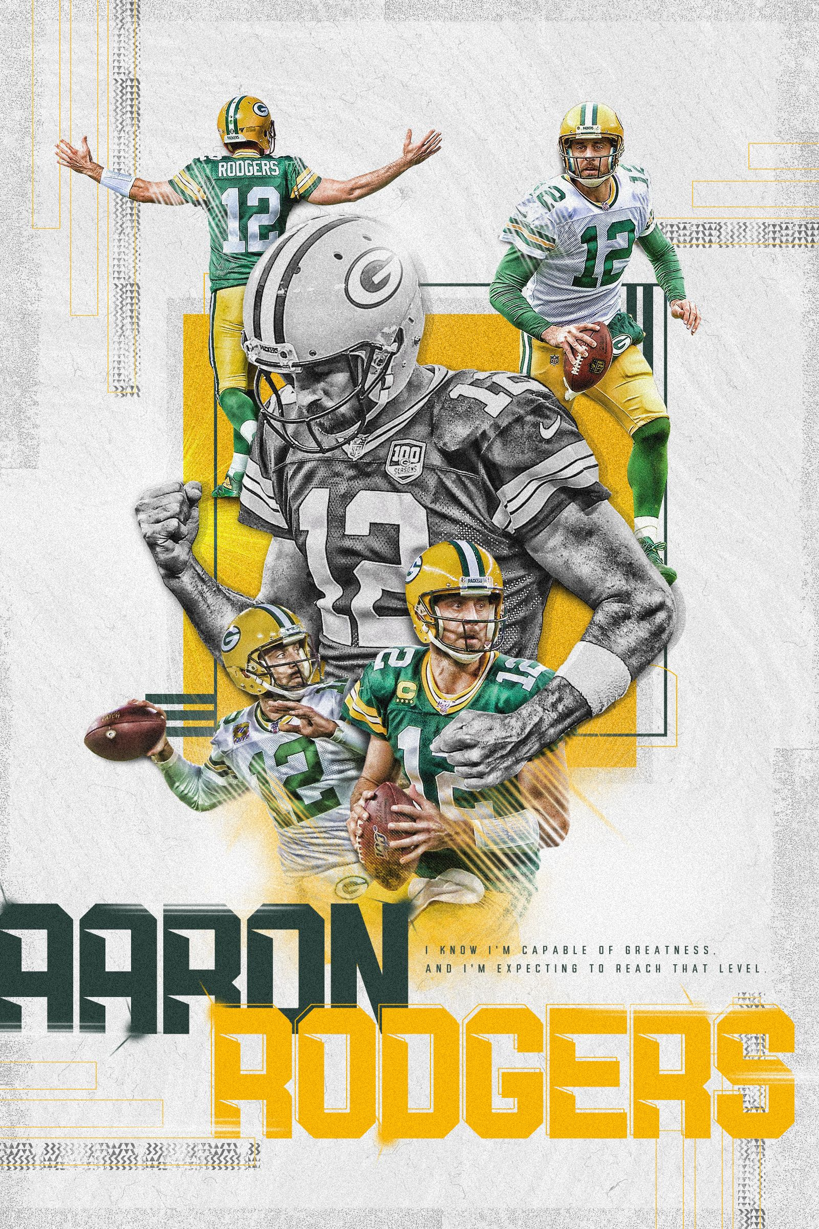 Aaron Rodgers The Goat In 2020 Poster Design Design Working Sports Design