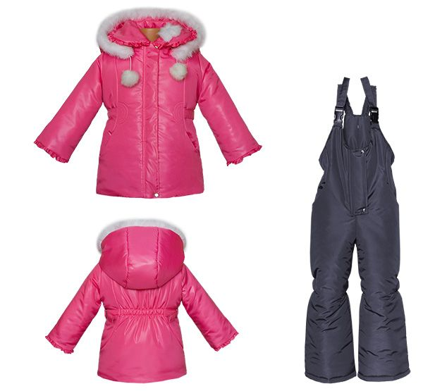 kids outerwear pink-black
